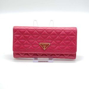 Authentic Prada Leather Pink Bifold Wallet